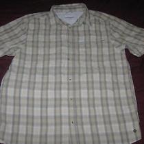 Men's Columbia Plaid Outdoor Shirt Size Medium Photo
