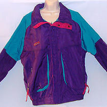 Men's Columbia Powder Keg Ski Jacket Purple/teal/pink Radial Sleeve Vintage Sz-L Photo