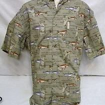 Men's Columbia River Lodge Redfish Drum Sea Trout Bass Fish Fishing Shirt Xl   Photo