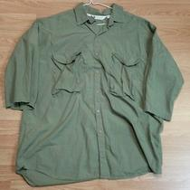 Men's Columbia Safari Green Radial Sleeve Outdoors Shirt 17.5 (Xl) Photo
