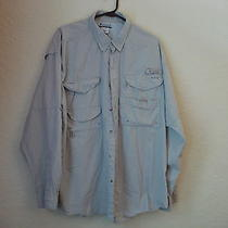 Men's Columbia Sportswear Co Khaki Cotton Pfg Fishing Shirt-Xl Photo