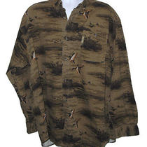 Men's Columbia Sportswear River Lodge Duck Print Shirt Size Xxl Photo