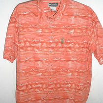 Men's Columbia Xco Cotton Fishing Shirt Size Xl  Photo