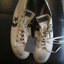 Men's Converse John Varvatos White/tan Star Player Mid-Top Sneakers Size 11.5 Photo