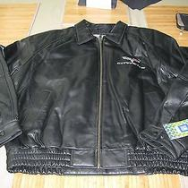 Men's Corvette Lamb Black Leather Bomber Jacket Large Photo