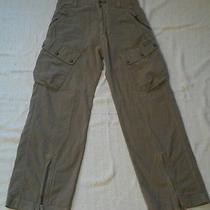 Men's Cotton  Diesel Unique & Rare Khaki Cargo Pants Sz 28 (30 Actual)  Euc Photo