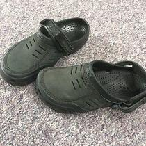 Men's Crocs Paqua Clogs Black Mule Sandals Slipper Slide on Size 8 Photo