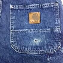 Men's Denim Carhartt Cotton Carpenter Work Paint Pants Jeans 32x34 Photo