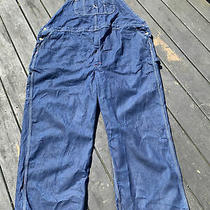 Men's Dickies Dark Blue Denim Bib Overall Jeans - Size 52 X 30 Photo