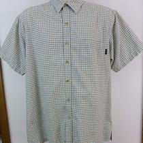 Men's Dickies Shirt Size Large Button Front Short Sleeve Cotton Blend Photo