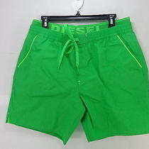 Men's Diesel Dolphin Swim Shorts Color Green Size Xl Great Deal   Photo