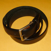Men's Dkny Donna Karan Black Genuine Full Grain Leather Belt Size 38/95cm. Photo