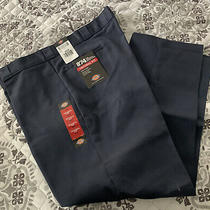 Mens Dress Pants Nwt Dickies Original Fit Navy Blue 44x30 Photo
