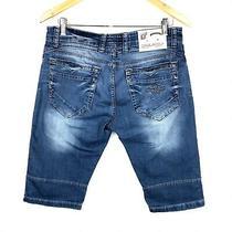 Men's Dsquared2 Jeans Shorts Casual Blue Italy Denim Indigo Jeans Size - 33 / L Photo