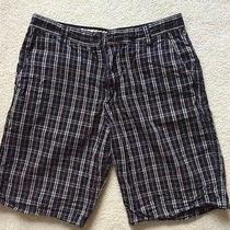 Men's Element Black Plaid Shorts Size 34  Photo
