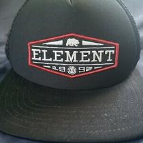 Men's Element Black Snap Back Trucker Cap. One Size. Black Hat (A) 1992 Logo Photo