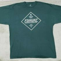 Men's Element Brand Clothing Xl on a Green T-Shirt Surf Skate Wind Water  Photo