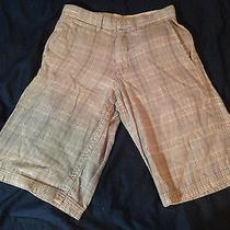 Men's Element Brand Shorts Size 26 Gray Plaid - Red Skate Surf Beach  Photo