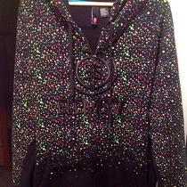 Men's Element Hoodie Black Paint Splatter Xl Photo