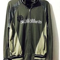 Men's Element Jacket Size Medium (M) Element Skateboards Gray Zip Down Nice Photo