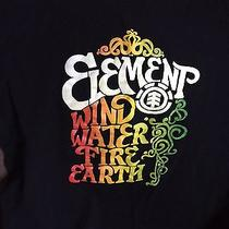 Men's Element T Shirt Large Wind Water Fire Earth Photo