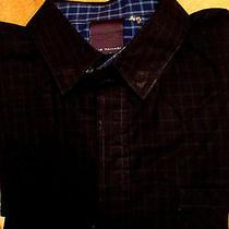 Men's Elie Tahari L X 32/ 33in Slim Fit/fitted Shirt Lk Photo