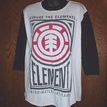 Men's Endure the Elements T-Shirt Medium 3/4 Sleeves Windwaterfireearth Photo