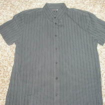 Men's Express - 1 Mx Button Up Short Sleeve Shirt - Large - Black Photo