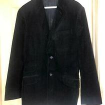 Men's Express Brand Black Corduroy Blazer Dinner Jacket Size 40r.  Photo