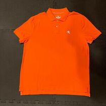 Mens Express Bright Orange Short Sleeve Polo Shirt Size Large Photo