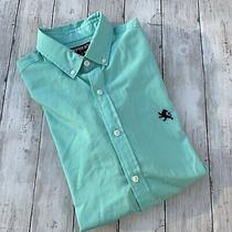 Men's Express Button Down Dress Shirt Modern Fit Sz M 15-15 1/2
