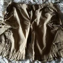 Men's Express Cargo Shorts Beige in Color Size 38 Photo