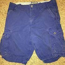 Men's Express Cargo Shorts Blue 32 Photo