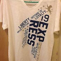 Men's Express Graphic T-Size Xl  Brand New White Photo