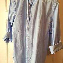 Men's Express Light Blue Modern Fit 1mx Shirt - Small Photo