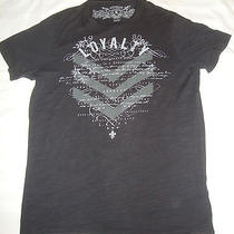 Men's Express Loyalty Graphic Extra Small Black T-Shirt Photo