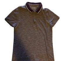 Mens Express Red Short Sleeve Polo Shirt Size Medium Photo