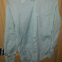 Men's Express Shirt Size Medium Aqua Photo