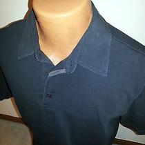 Men's Express Stretch Polo Shirt Black Large L Modern Fit Photo