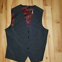 Men's Express Suit Vest Charcoal Dark Gray Grey Size Small S Nwt Brand New Photo