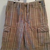 Men's Express Summer Cargo Shorts - Gray Plaid/ Checkers - Size 30 Photo