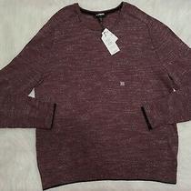 Men's Express Sweater Pullover Burgundy Moisture Wicking Size Xl Photo