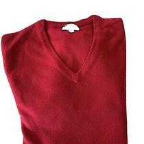 Mens Express v Neck Pullover / Sweater Merino Wool. Size Large. Red Photo