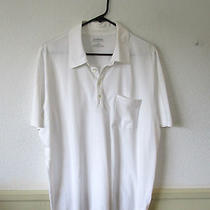 Men's Express White 100% Cotton Polo Shirt Size Xl Photo