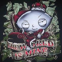 Men's Family Guy Stewie Griffin T-Shirt Sz 2xl Black  the World Is Mine Photo