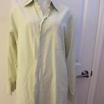 Men's Fendi Sea Green Solid Dress Shirt Size 35 Photo