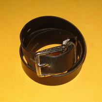Men's Fossil Black Genuine Leather Belt Size 32-34