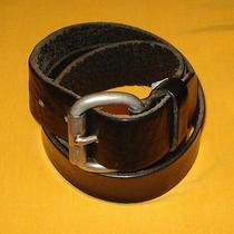 Men's Fossil Black Genuine Leather Belt Size 38/95cm.. Photo