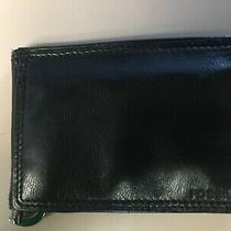 Men's Fossil Black Leather Flip Clip Wallet - Nib - Free Ship Photo
