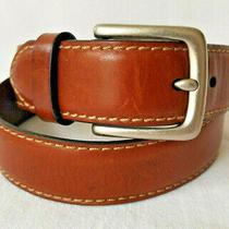 Men's Fossil Brown Leather Belt